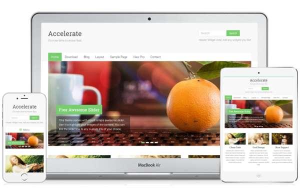 Accelerate - бесплатная многоцелевая тема WordPress