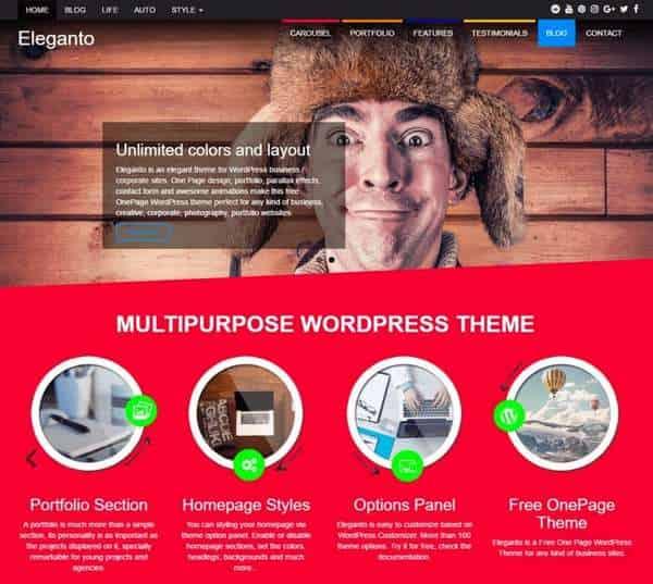 Eleganto - элегантная тема WordPress