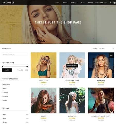 ShopIsle - бесплатная и современная тема WordPress
