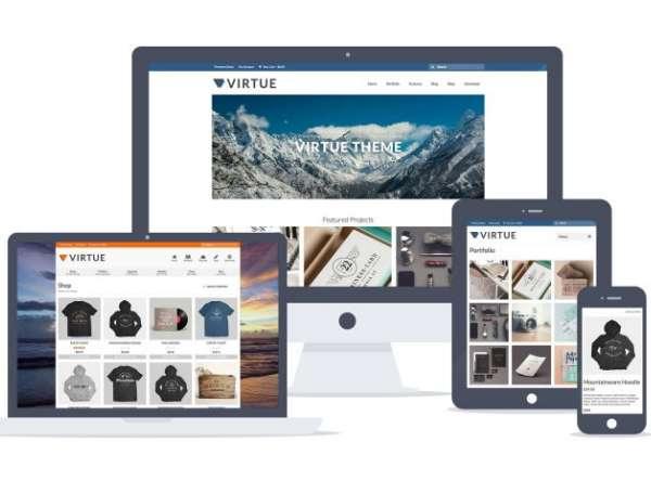 Virtue - универсальная бесплатная тема WordPress