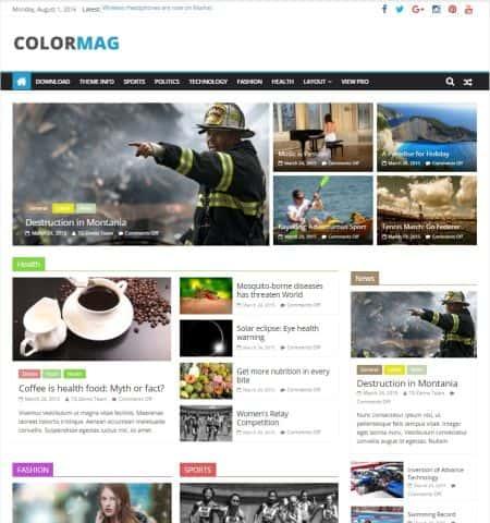 ColorMag - бесплатная и современная тема WordPress