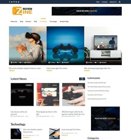 ReviewZine - современная и бесплатная тема WordPress