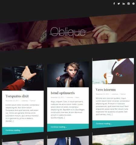 Oblique - элегантная бесплатная тема WordPress
