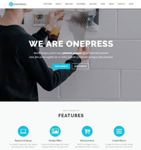 OnePress - Бесплатная тема WordPress