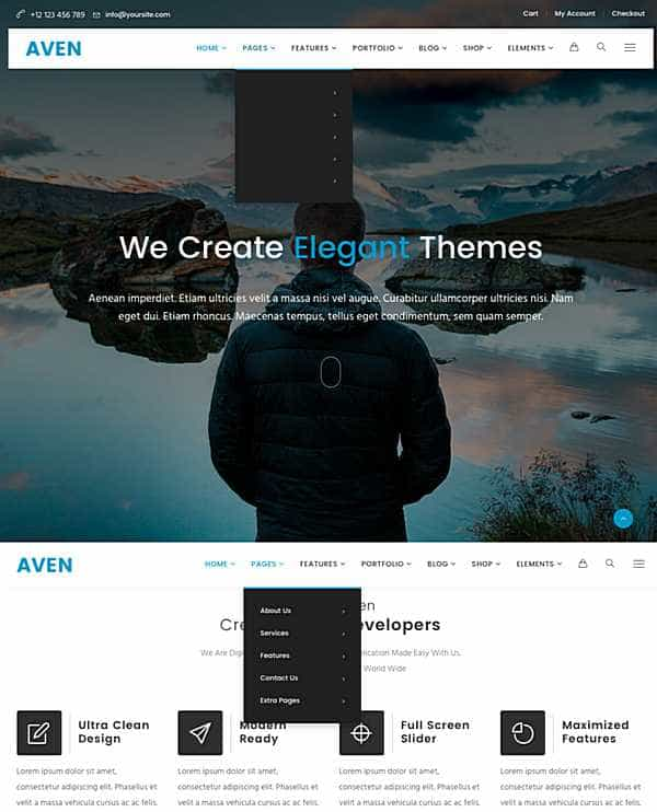 Aven - очень гибкая тема WordPress