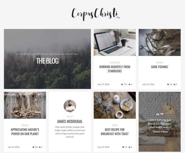 CorpusChristi - современная тема для блогов WordPress