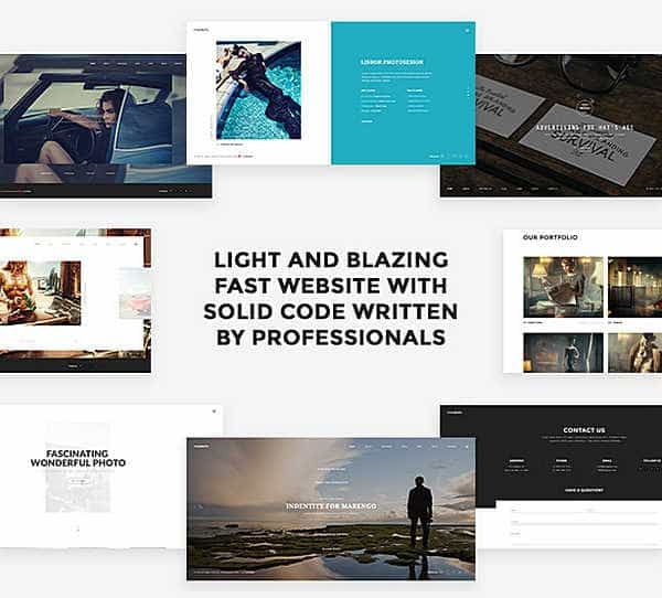 Modesto - творческая тема WordPress в стиле минимализма
