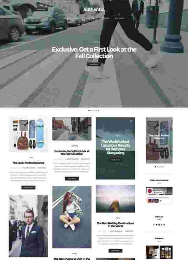 Authentic - лёгкая классическая тема WordPress