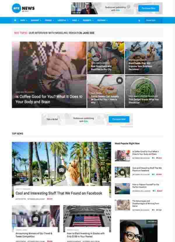 Bitz - тема WordPress для новостей и публикаций