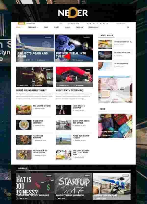 Neder -Журнальная тема WordPress