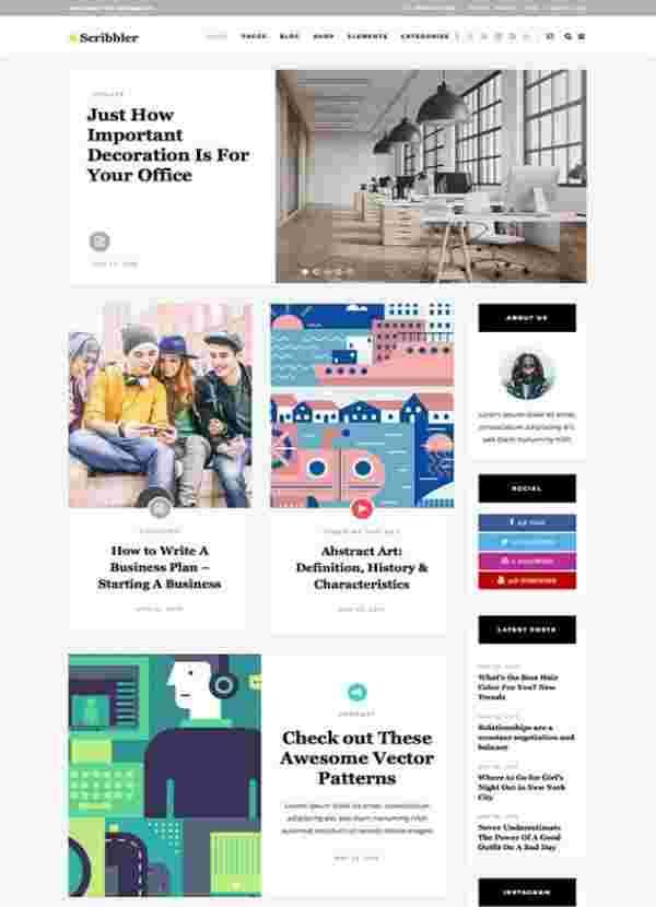 Scribbler - Простая тема для блогов и онлайн-журналов