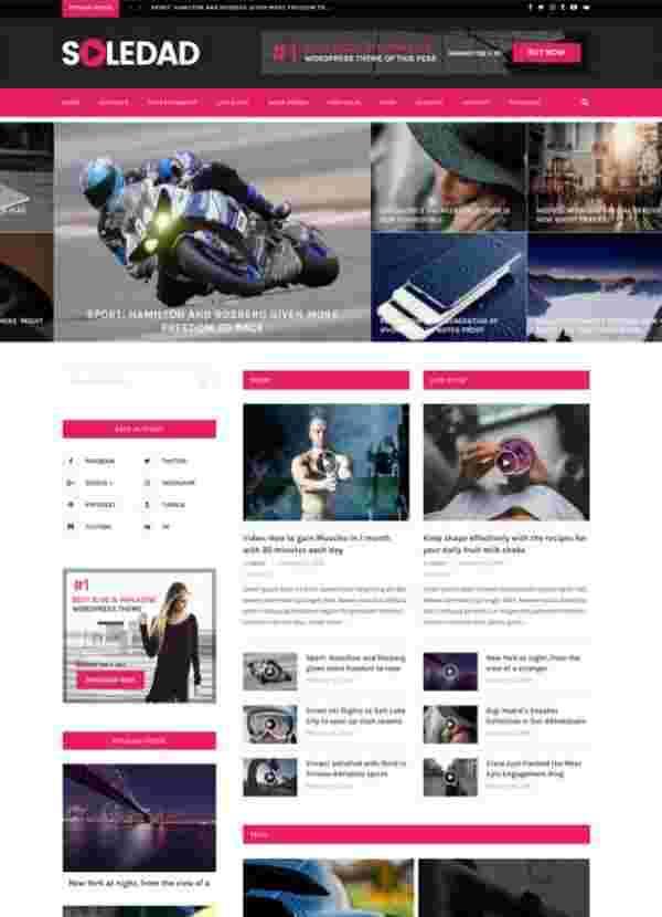 Soledad - Многопользовательская тема WP для журналов и блогов