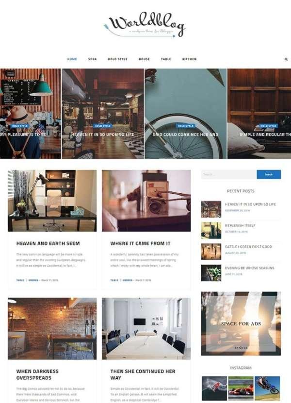 Worldblog - одна из лучших тем WordPress для блогов и журналов