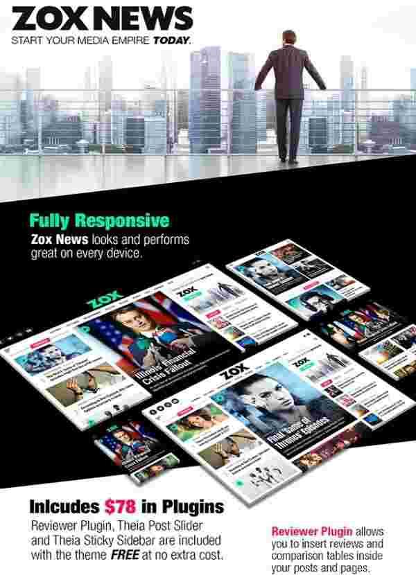 Zox News - профессиональная тема WordPress