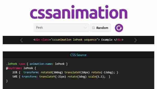 CssAnimation - Библиотека  CSS анимаций