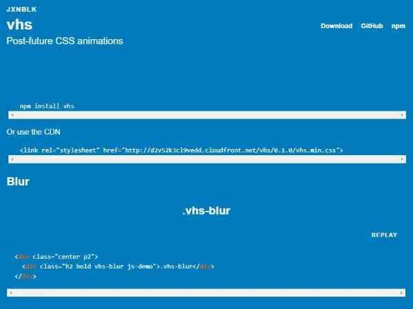 VHS.css - Анимация CSS