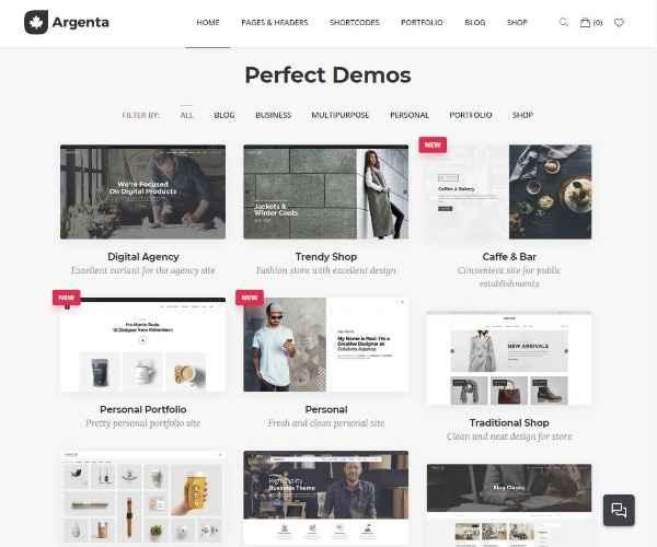 Argenta - Творческая многопользовательская тема WordPress