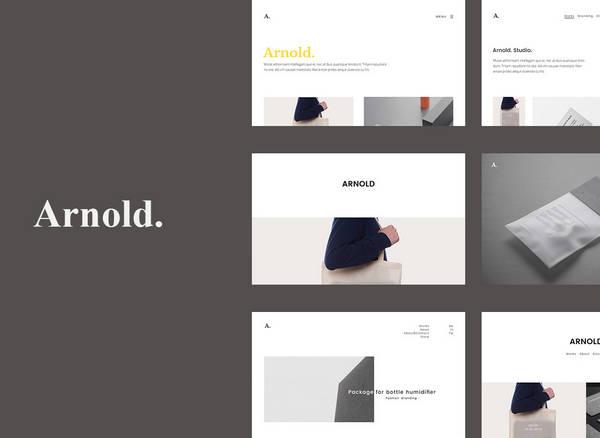 Arnold - минималистская тема портфолио WordPress