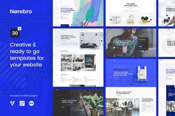 Norebro - тема творческого портфолио для многоцелевого использования