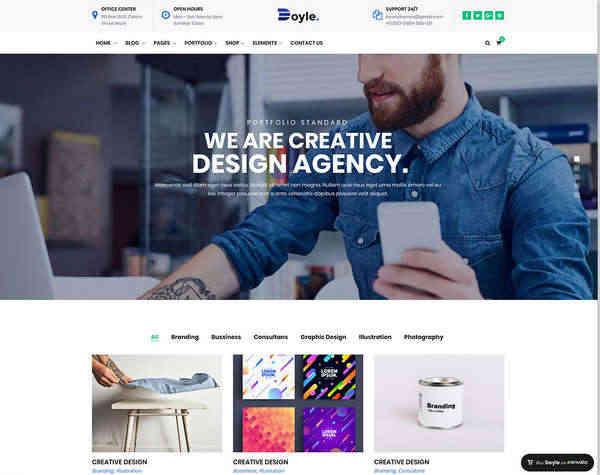 Doyle - Творческая многопользовательская тема WordPress