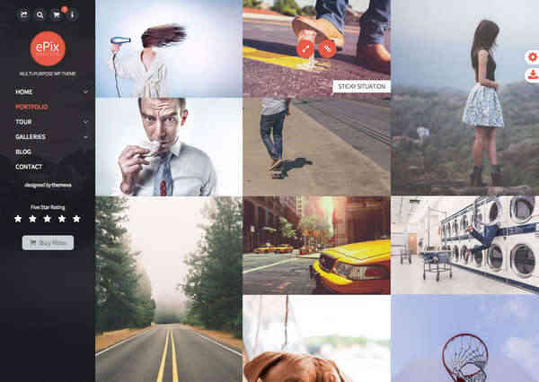 ePix - Полноэкранная WordPress тема для фотографов