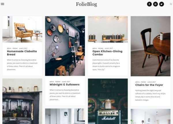 Folie - Качественная многоцелевая тема WordPress