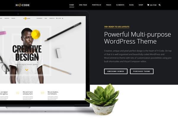 H-Code - Отзывчивая и многоцелевая тема WordPress