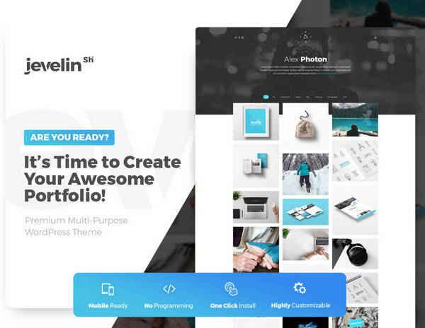 Jevelin - Многоцелевая тема WordPress