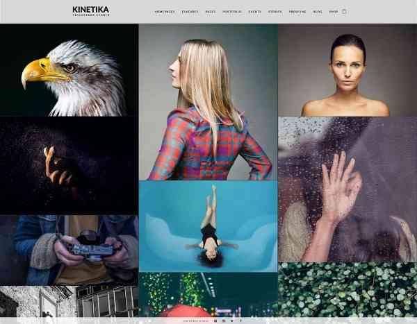 Kinetika - Полноэкранная тема WordPress для фотографов
