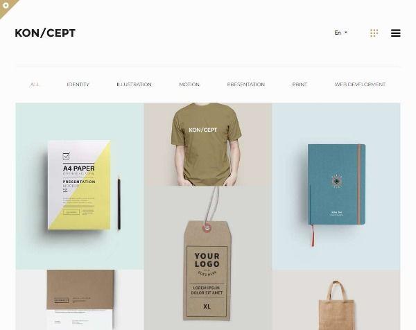 KON/CEPT - тема WP для творческих людей