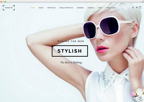 Oshine - это чистая и красивая, многоцелевая тема WordPress