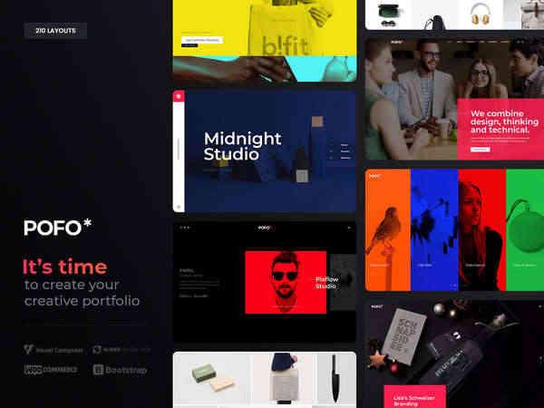 Pofo - Креативная портфолио и блог тема WordPress