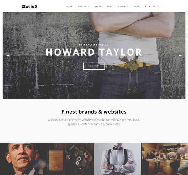 Studio 8 - Премиум тема WordPress для агенств