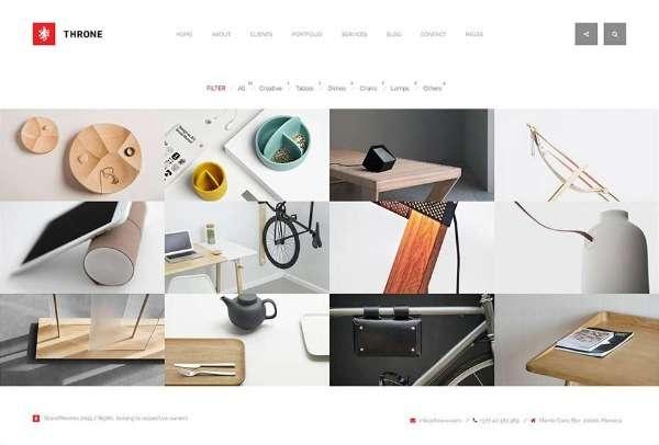 Throne  - минималистская тема WordPress