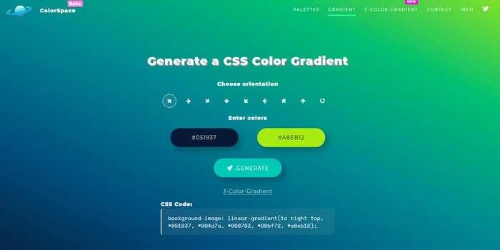 ColorSpace Gradient