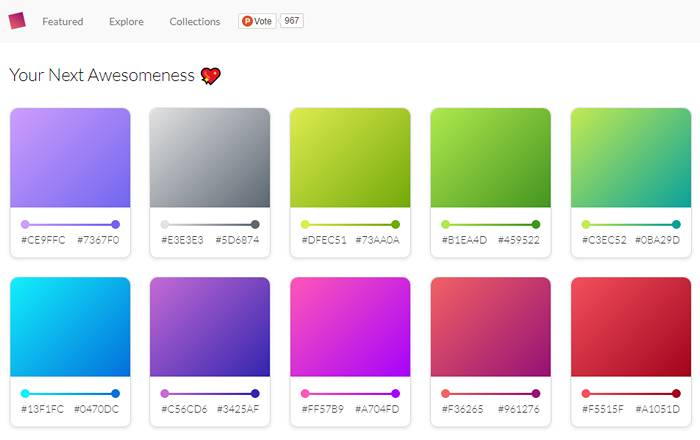 CSS Gears Gradient Cards