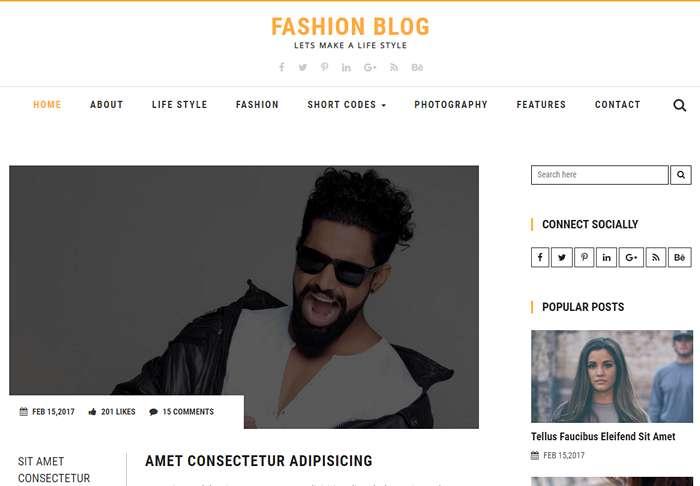 Fashion Blog - бесплатный шаблон html5