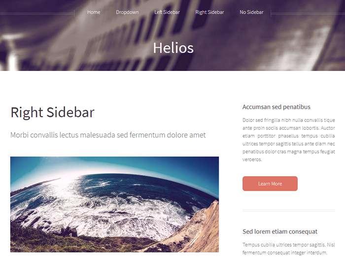 Helios - шаблон html5 для блога