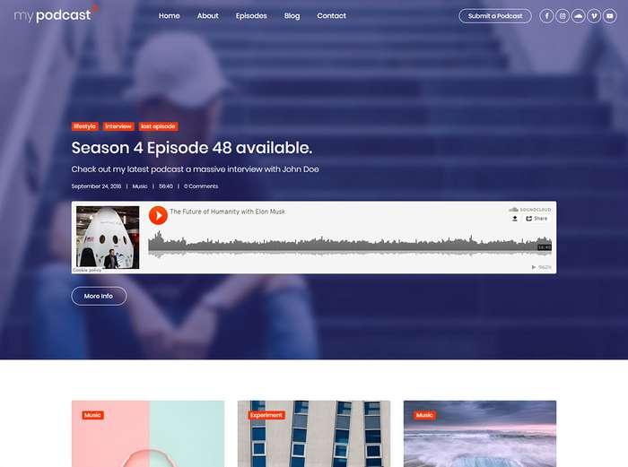 Mypodcast - Шаблон HTML5