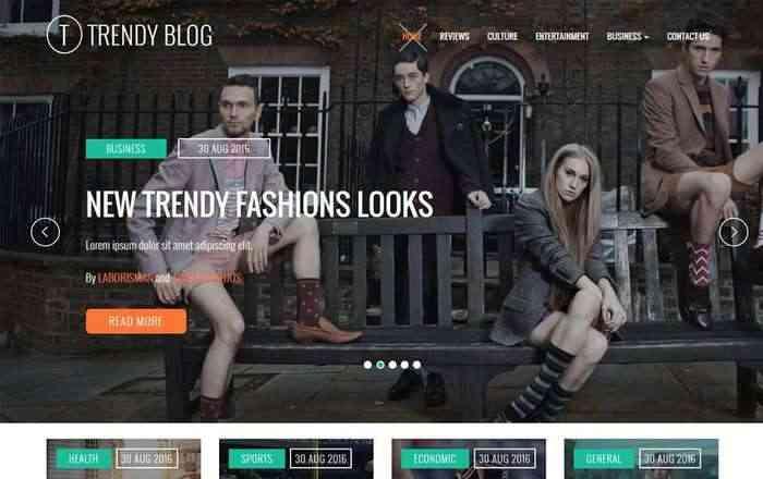 Trendy Blog - шаблон сайта