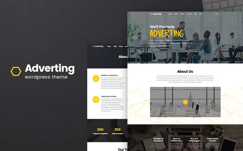 Adverting - WordPress тема для сайта рекламного агенства