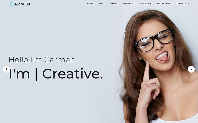Carmen - WordPress тема для дизайн портфолио