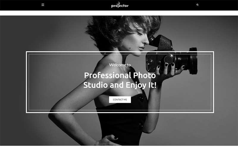 Projector - Тема WordPress для портфолио фотографа