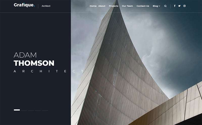 Grafique - Тема WordPress для архитектурного сайта
