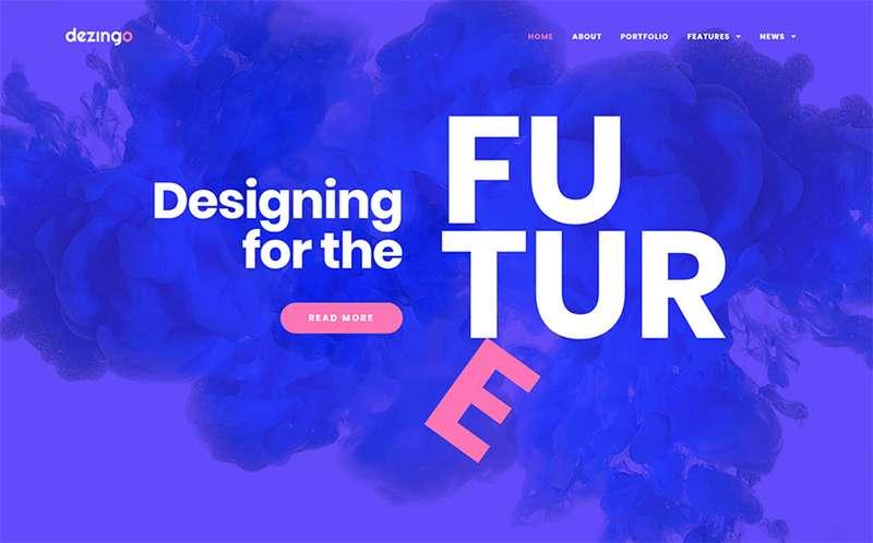 Dezingo - WordPress тема для креативного стартапа