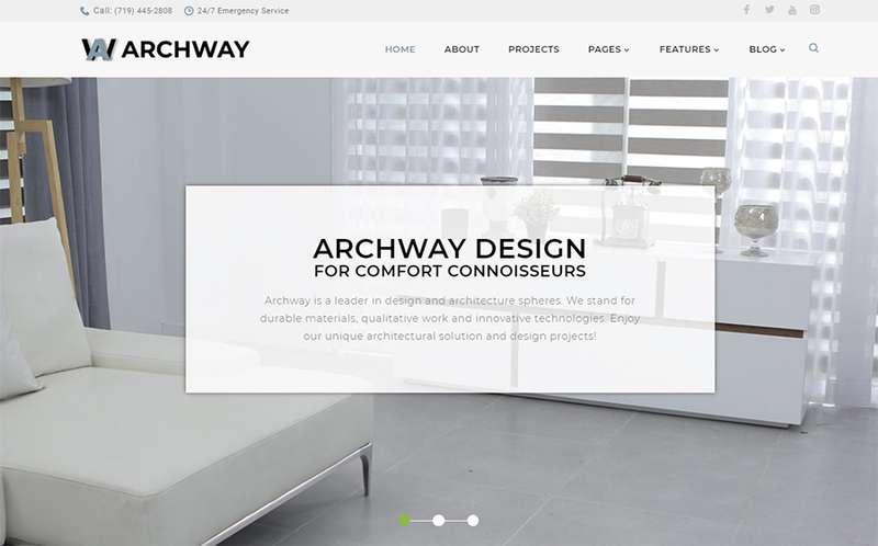 Archway - Тема WordPress для архитектурного агенства