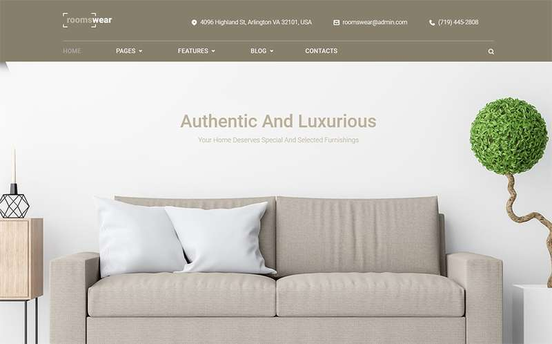 Roomswear - Тема WordPress для мебельных сайтов