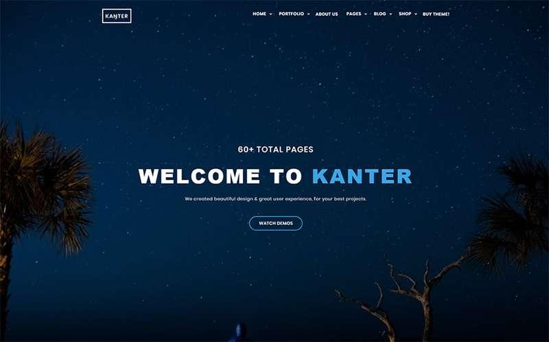 Kanter - Тема WordPress для корпоративных агентств и портфолио