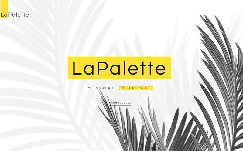 La Palette - Минималистская тема WordPress для креативного агентства