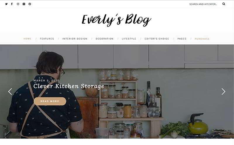 Everly - тема WordPress хипстерского блога